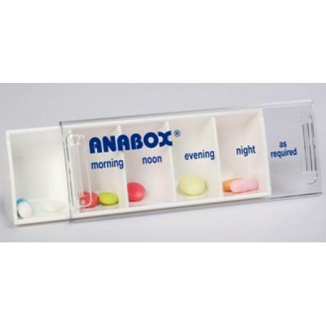 Boîte à médicaments Anabox pour 1 jour, 5 compartiments