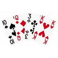 Cartes de jeu avec grande impression