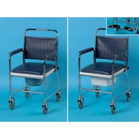 chaise perc e de toilette sur roues en acier days. Black Bedroom Furniture Sets. Home Design Ideas