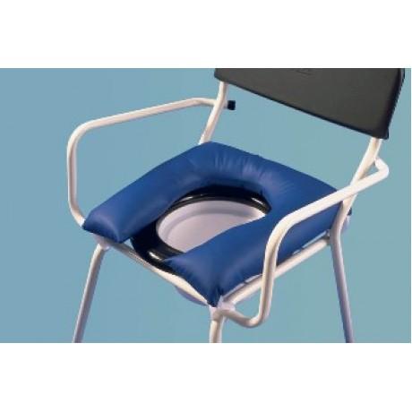 Coussin en forme de fer à cheval pour chaise percée